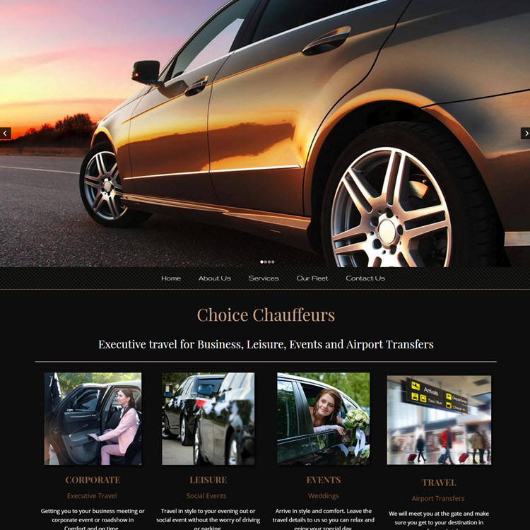 UK Website builder templete Choice Chauffeurs