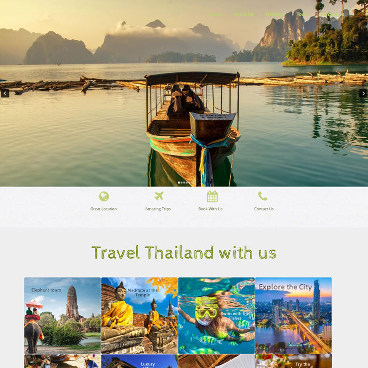 UK Website builder templete Explore Thailand