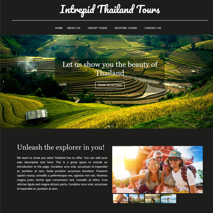 UK Website builder templete Intrepid Thailand Tours