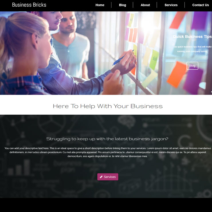UK Website builder templete Business Bricks