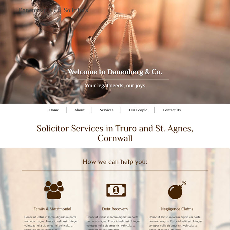 UK Website builder templete Danenberg & Co. Solicitors