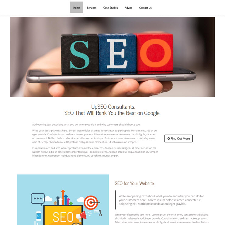 UK Website builder templete Up SEO