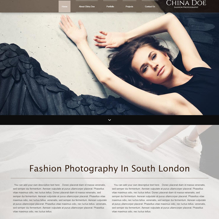 UK Website builder templete China Doe Fashion Photography
