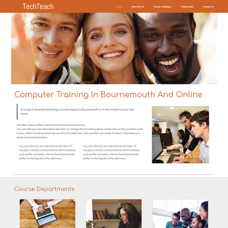 UK Website builder templete Tech Teachers