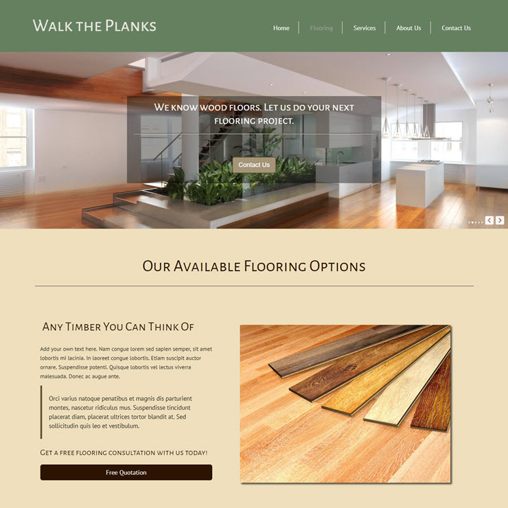 UK Website builder templete Flooring Website