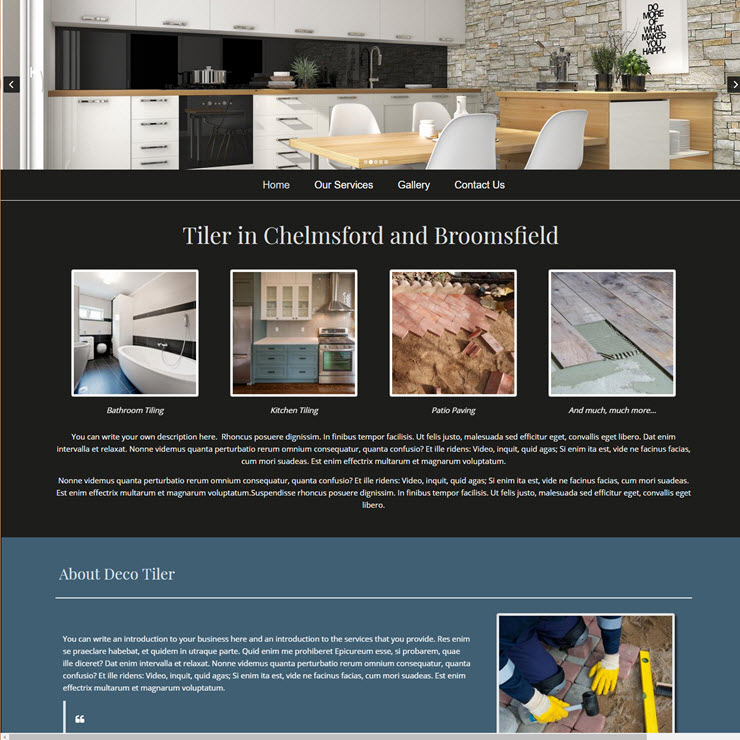 UK Website builder templete Deco Tiler