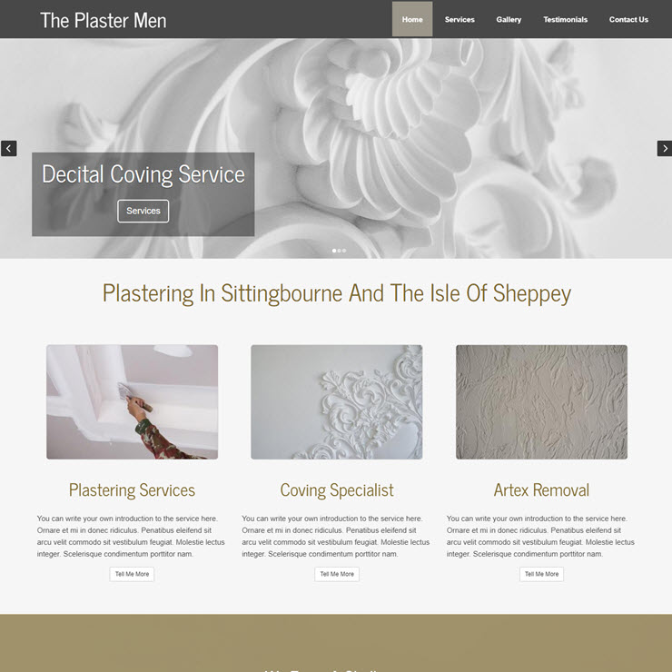 UK Website builder templete The Plaster Men