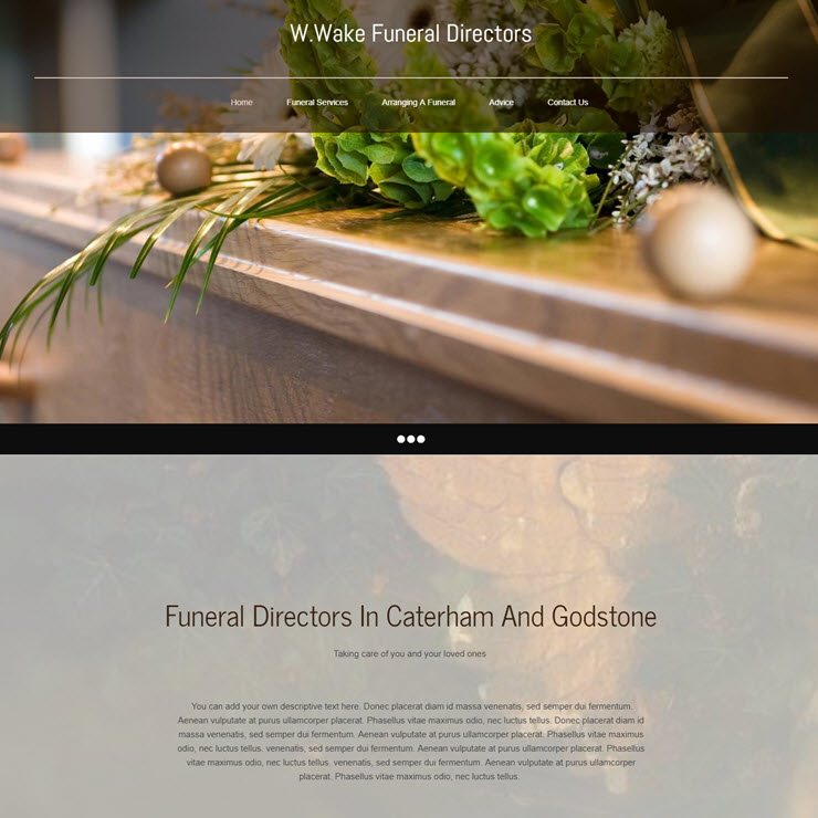 UK Website builder templete W.Wake Funeral Directors