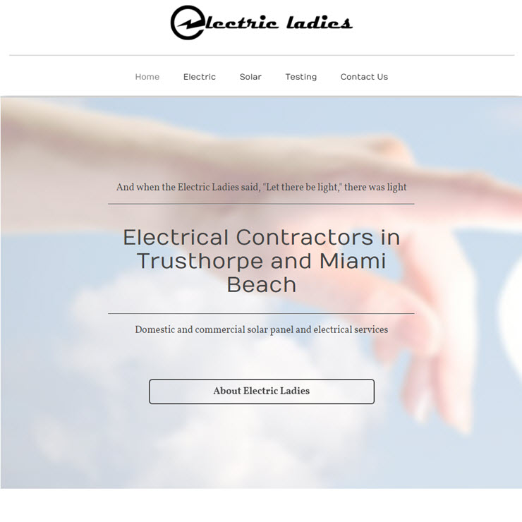 UK Website builder templete Electric Ladies