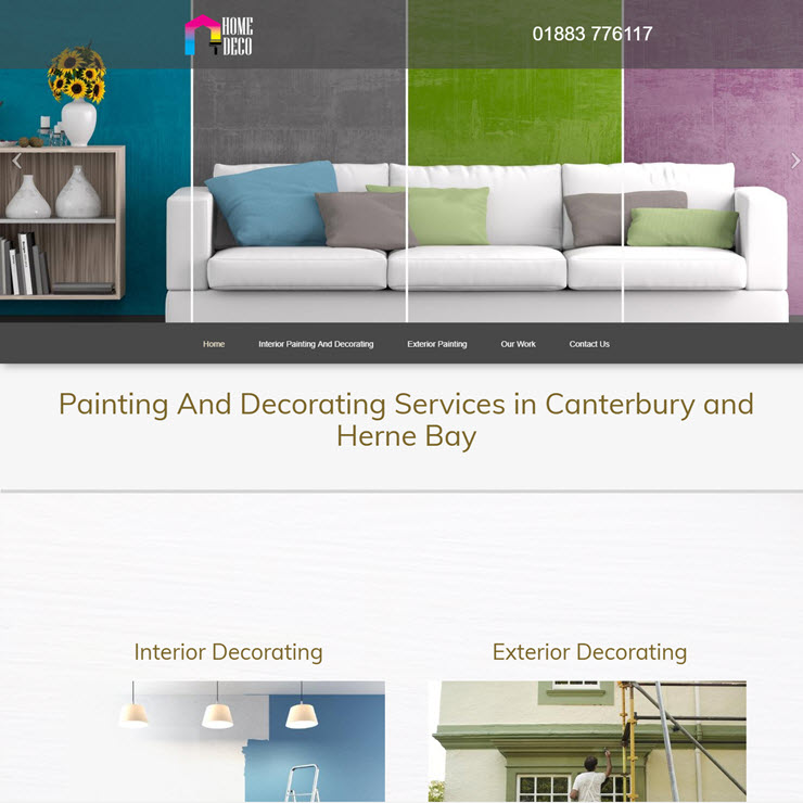 UK Website builder templete Home Painter and Decorator
