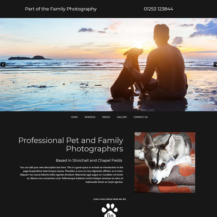 UK Website builder templete Part of the Family Photography