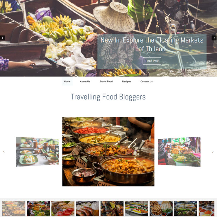 UK Website builder templete Food Blogger