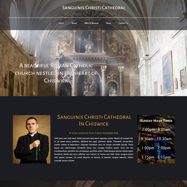 UK Website builder templete Sanguinis Christi Catholic Church