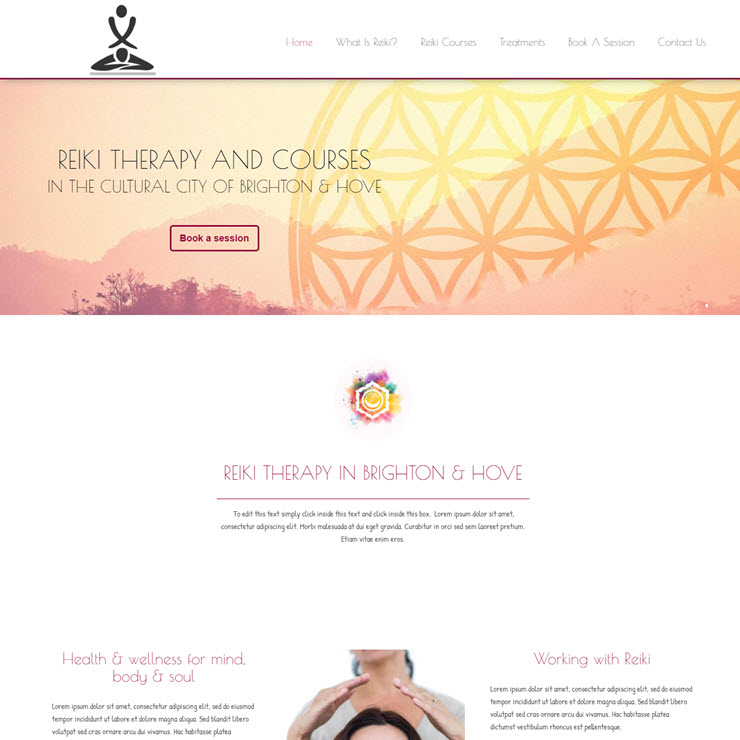 UK Website builder templete Resonate Reiki