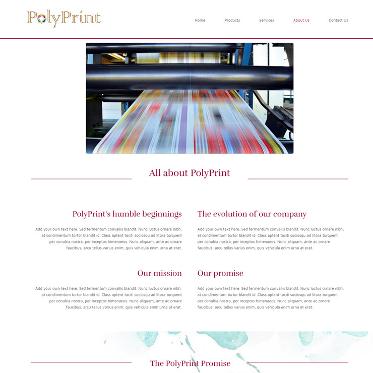UK Website builder templete Printing Company Template