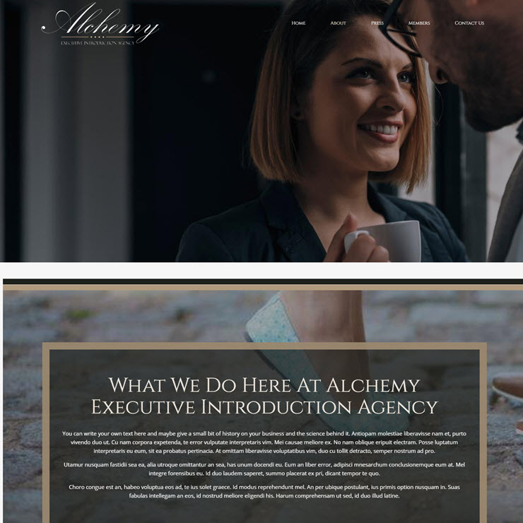 UK Website builder templete Executive Introduction Agency