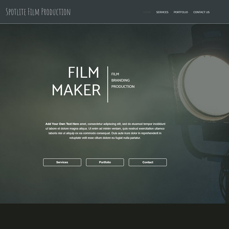 UK Website builder templete Spotlite Film Production