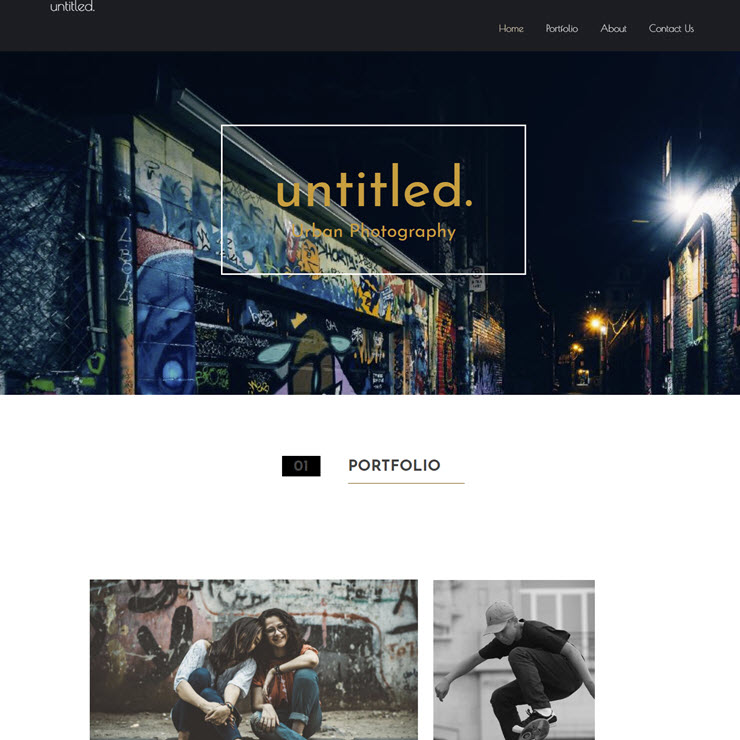 UK Website builder templete untitled. photography