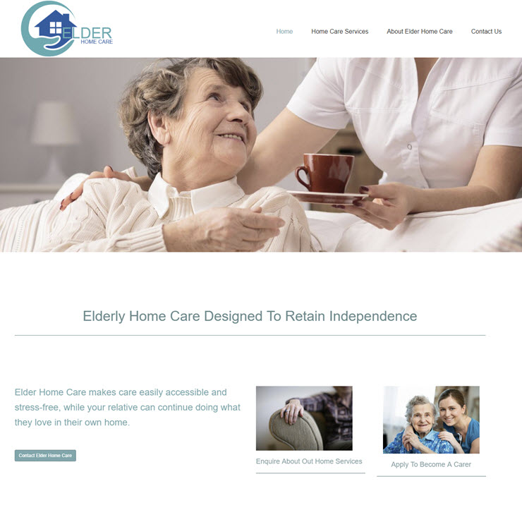 UK Website builder templete Elder Home Care