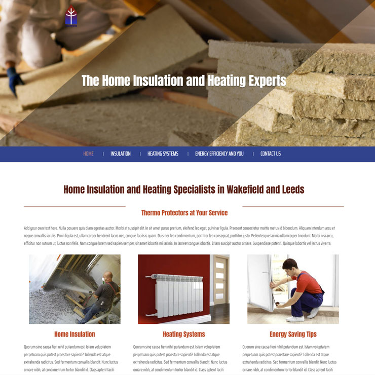 UK Website builder templete Thermo Protectors