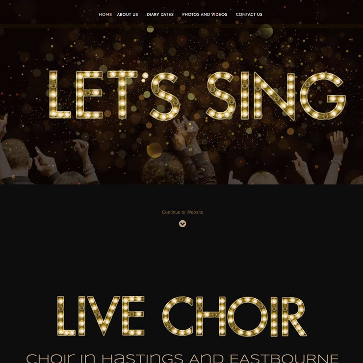 UK Website builder templete Live Choir