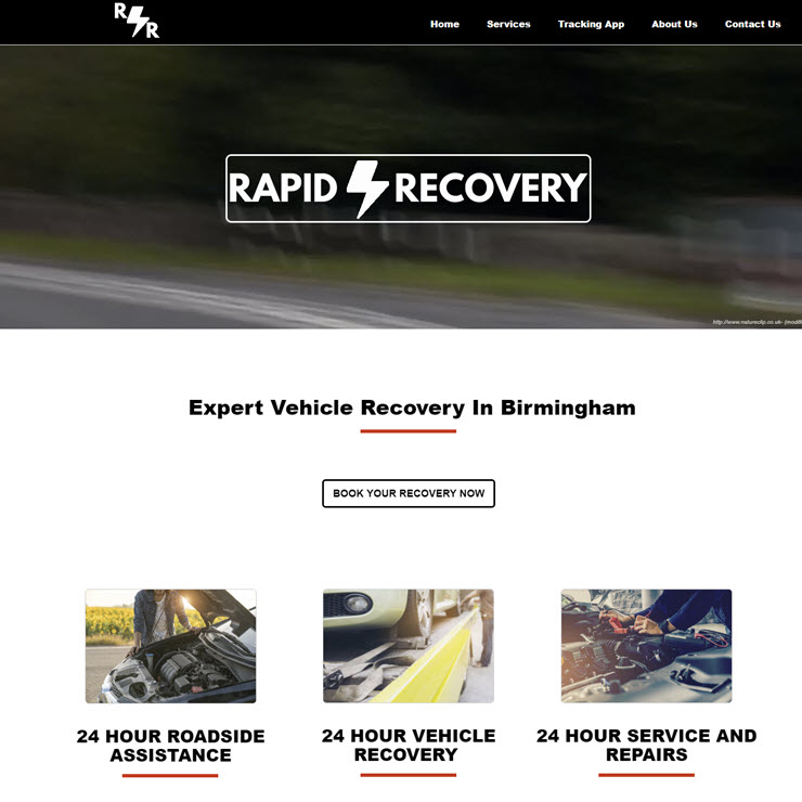UK Website builder templete Rapid Recovery