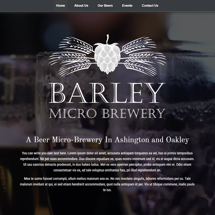 UK Website builder templete Micro Brewery
