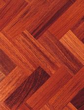 Parquet blocked sanded and stained. Floor sanding services at £16 sqm