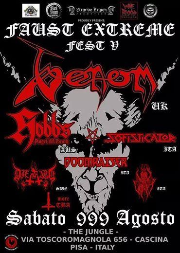 Venom black metal concerts PISA 2014 poster