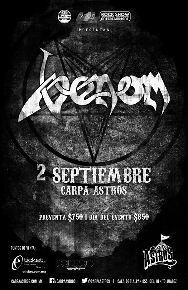 Venom black metal news official