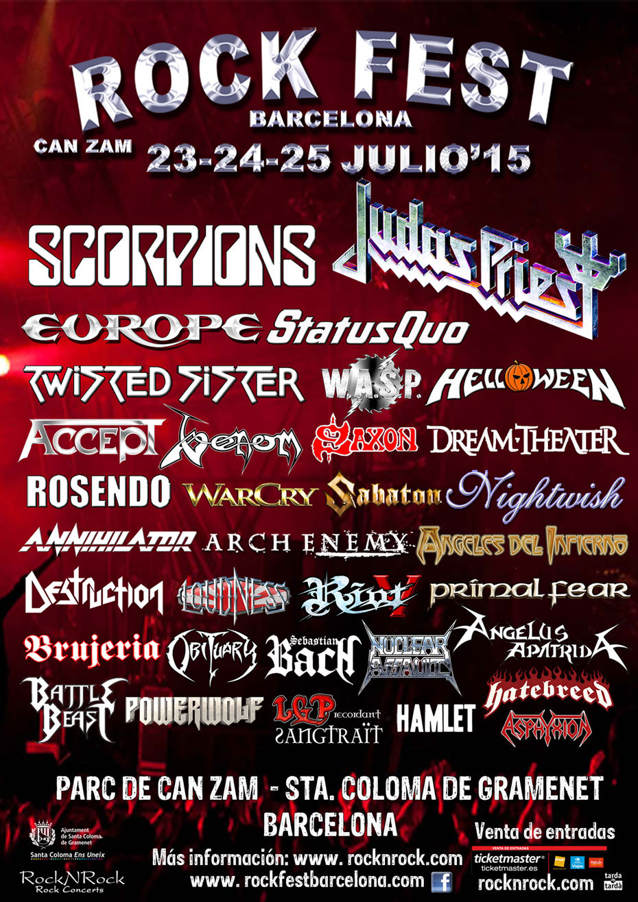 Venom summer gigs 2015 black metal rock fest barcelona review