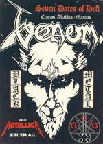 Venom Tour Archieve Setlist Pictures Info Memorabilia