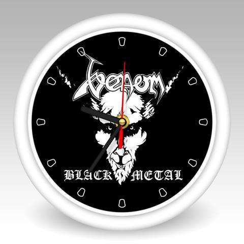 venom black metal wall clock