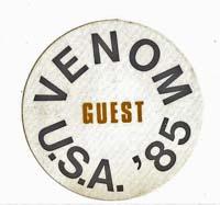 venom black metal Guest Pass USA tour 1985