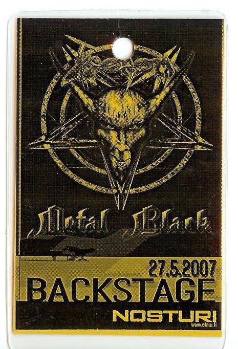 venom black metal tour pass 2007