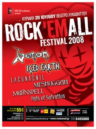 venom rock em all poster