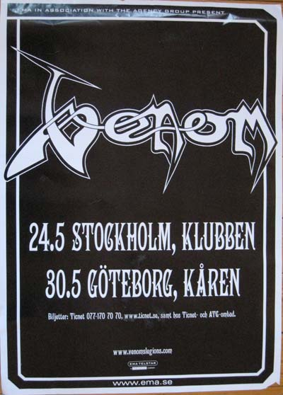 venom black metal collector heavy hårdrock