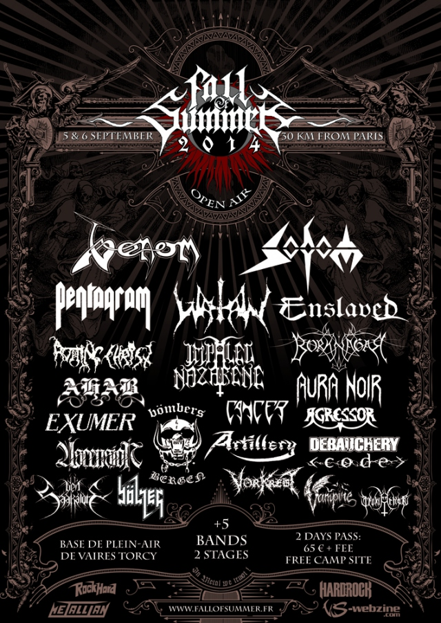 Venom black metal concerts 2014 fall of summer poster