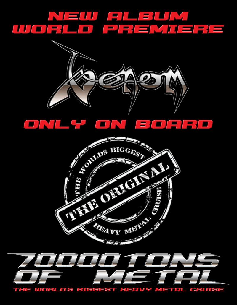 Venom 70 000 Tons Of Metal Cruise 2015