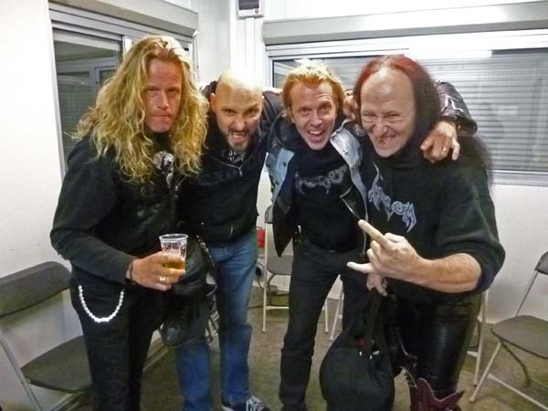 Backstage with Venom Masters  Rock Festival 2013