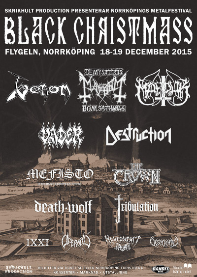 Venom tour autumn winter 2015 gigs concert