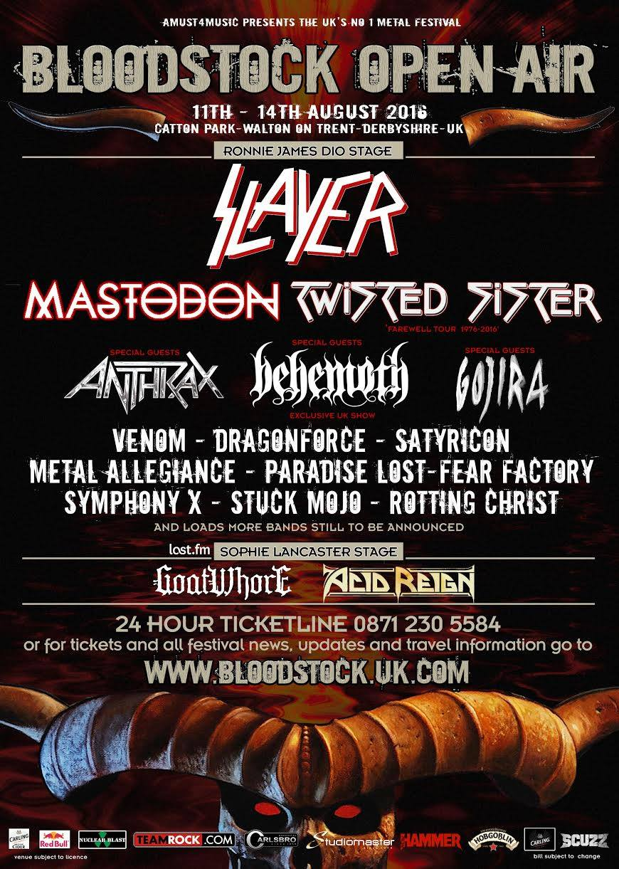 Venom bloodstock open air festival 2016 review pictures setlist