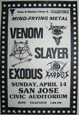 venom black metal flyer san jose 1985