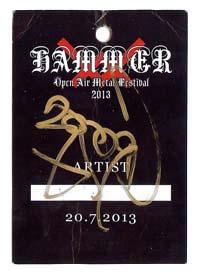 venom hammer open air backstage pass