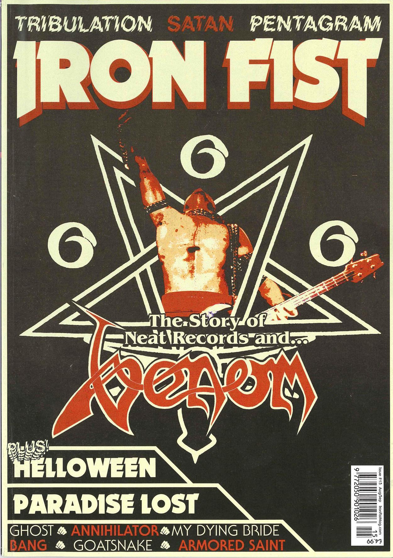 venom black metal iron fist magazine cover cronos