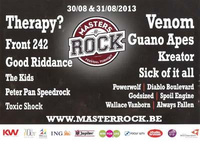 venom black metal masters @ rock belgium 2013 flyer