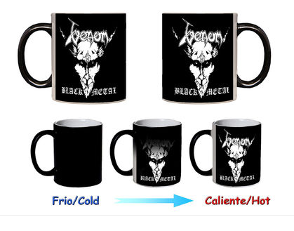 Venom ceramic mug black metal