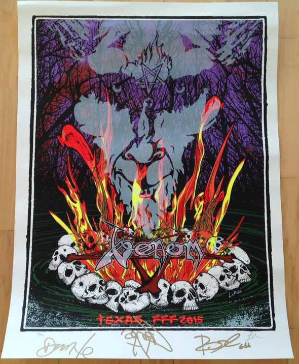 venom black metal fun fun fun festival poster texas 2015