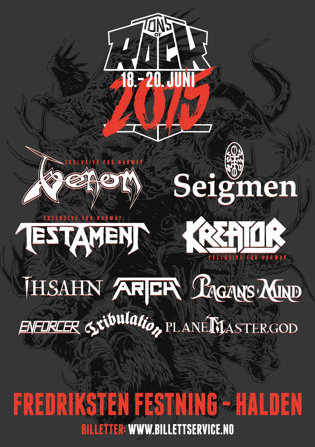 Venom summer gigs 2015 black metal