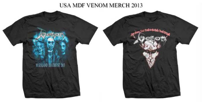 Venom Maryland Deathdest USA Merch 2013